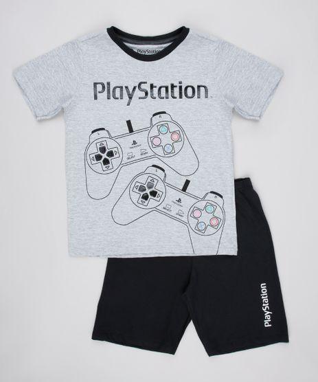 Pijama-Infantil-Playstation-Manga-Curta-Cinza-Mescla-Claro-9762470-Cinza_Mescla_Claro_1