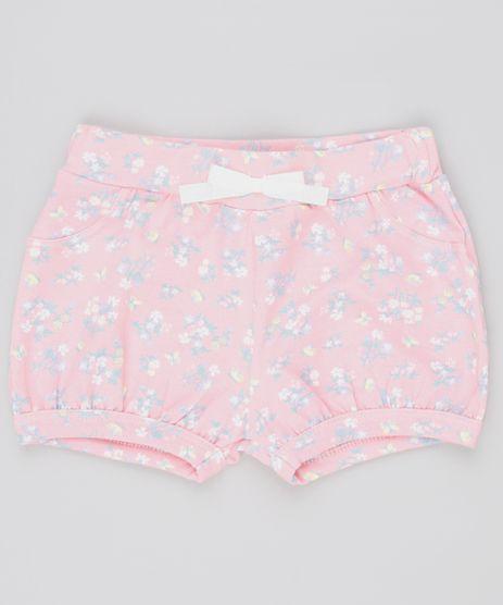 Short-Infantil-Balone-Estampado-Floral-com-Laco-Rosa-9742135-Rosa_1