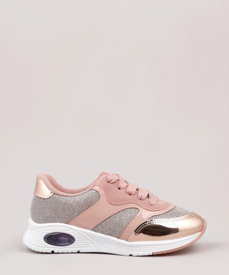 Tenis-Infantil-Molekinha-Running-com-Brilho-Rose-9902829-Rose_1