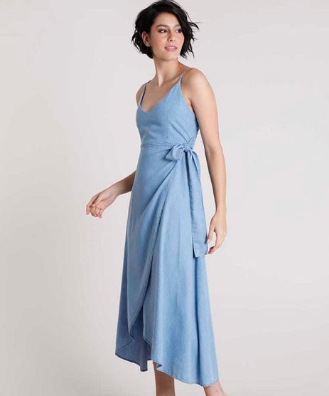 Vestido-Jeans-Feminino-Mindset-Midi-Transpassado-Alca-Fina-Azul-Claro-9891626-Azul_Claro_1