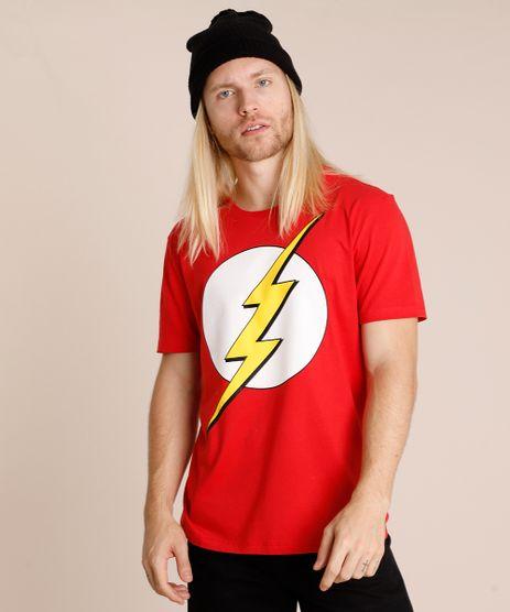 Camiseta-Masculina-The-Flash-Manga-Curta-Gola-Careca-Vermelha-9719811-Vermelho_1