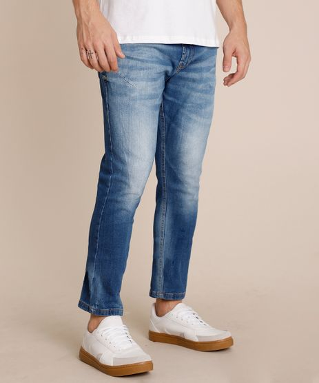 Calca-Jeans-Masculina-Carrot-com-Bolsos-Azul-Medio-9779093-Azul_Medio_1