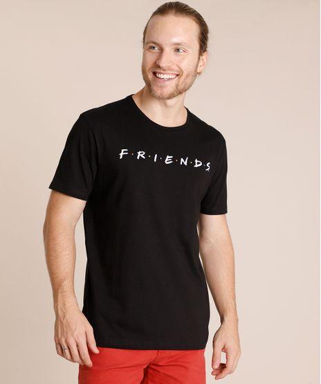 Camiseta-Masculina-Friends-Manga-Curta-Gola-Careca-Preta-9852345-Preto_1