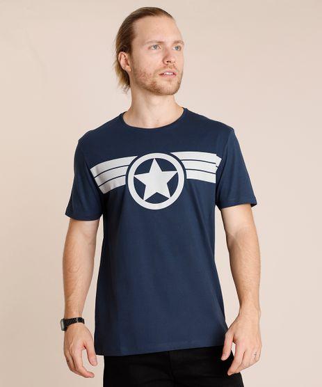 Camiseta-Masculina-Capitao-America-Manga-Curta-Gola-Careca-Azul-Marinho-9852348-Azul_Marinho_1