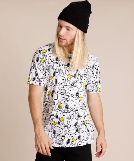 Camiseta-Masculina-Snoopy-Estampada-Manga-Curta-Gola-Careca-Branca-9719882-Branco_1