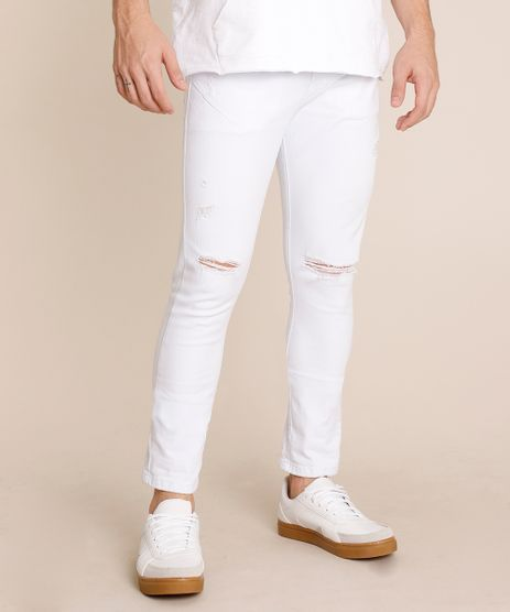 Calca-de-Sarja-Masculina-Carrot-Destroyed-Branca-9779094-Branco_1