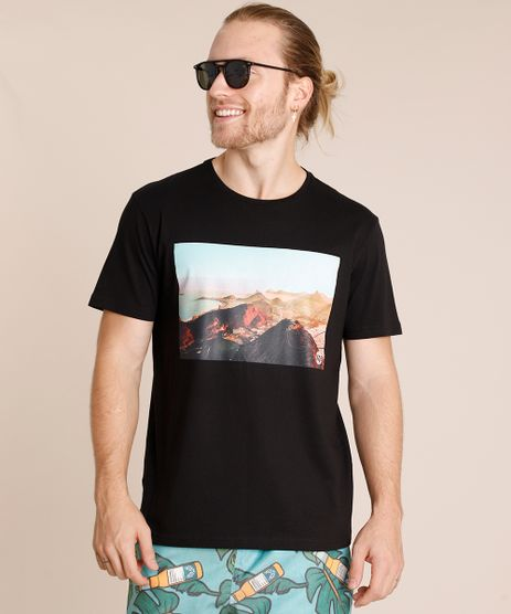 Camiseta-Masculina-Paisagem-Manga-Curta-Gola-Careca-Preta-9726318-Preto_1