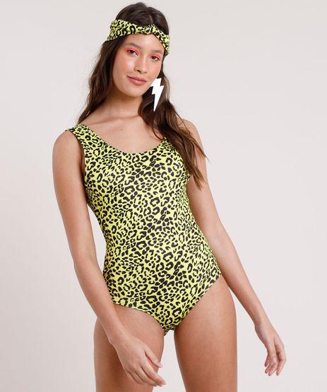 Body-Feminino-Carnaval-Estampado-Animal-Print-Onca-Alca-Larga---Faixa-de-Cabelo-Amarelo-Neon-9799482-Amarelo_Neon_1