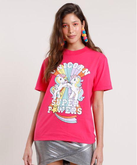 Blusa-Feminina-Carnaval-My-Little-Pony-Manga-Curta-Decote-Redondo-Rosa-Escuro-9837258-Rosa_Escuro_1
