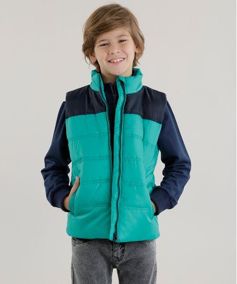 Conjunto-de-Colete-Verde---Blusao-em-Moletom-Azul-Marinho-8448930-Azul_Marinho_1