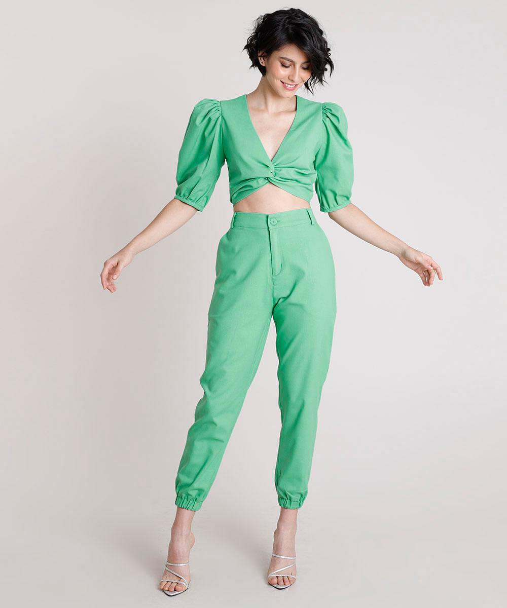 Blusa-Feminina-Mindset-Cropped-com-Linho-e-No-Manga-Bufante-Decote-V-Verde-9909287-Verde_3