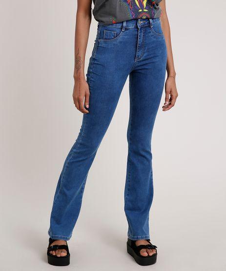 Calca-Jeans-Feminina-Sawary-Boot-Cut-Cintura-Alta-Super-Lipo-Azul-Medio-9855741-Azul_Medio_1
