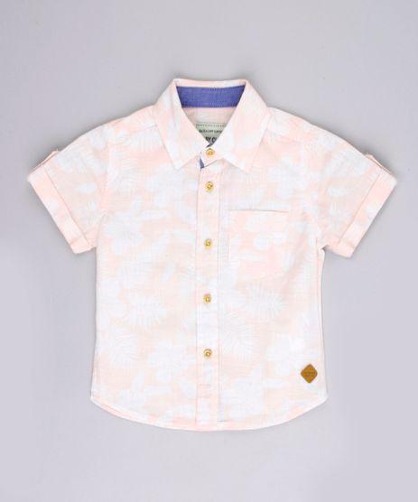 Camisa-Infantil-Estampada-Floral-com-Bolso-Manga-Curta-Rose-9670882-Rose_1
