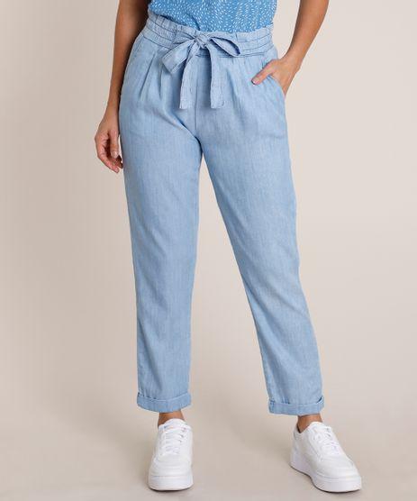 Calca-Jeans-Feminina-Clochard-Cintura-Media-com-Amarracao-e-Bolsos-Azul-Claro-9818540-Azul_Claro_1