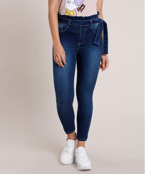 Calca-Jeans-Feminina-Sawary-Clochard-Cropped-Cintura-Alta-Azul-Escuro-9870660-Azul_Escuro_1