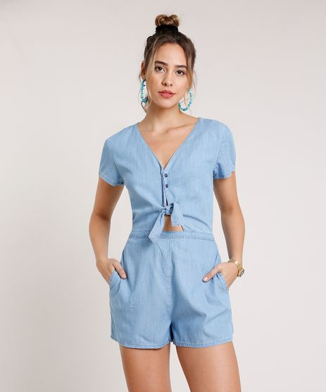 Macaquinho-Jeans-Feminino-com-No-e-Vazado-Manga-Curta-Azul-Claro-9833546-Azul_Claro_1