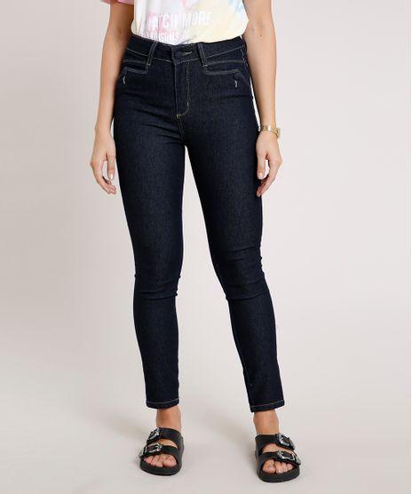 Calca-Jeans-Feminina-Sawary-Cigarrete-Pull-Up-Cintura-Alta-Azul-Escuro-9844943-Azul_Escuro_1