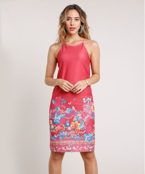 Vestido-Feminino-Curto-Estampado-Floral-Halter-Neck-Alca-Fina-Vermelho-9786191-Vermelho_1