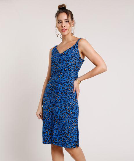 Vestido-Feminino-Midi-Estampado-Animal-Print-Onca-com-Fenda-Alca-Media-Azul-Royal-9846077-Azul_Royal_1