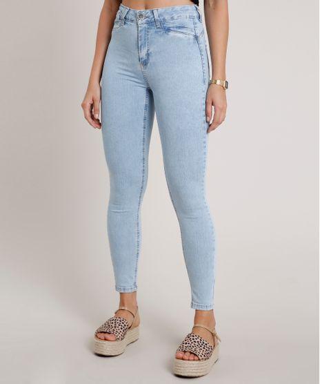 Calca-Jeans-Feminina-Skinny-Cigarrete-Cintura-Media-Azul-Claro-9857031-Azul_Claro_1