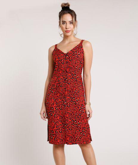 Vestido-Feminino-Midi-Estampado-Animal-Print-Onca-com-Fenda-Alca-Media-Vermelho-9846076-Vermelho_1