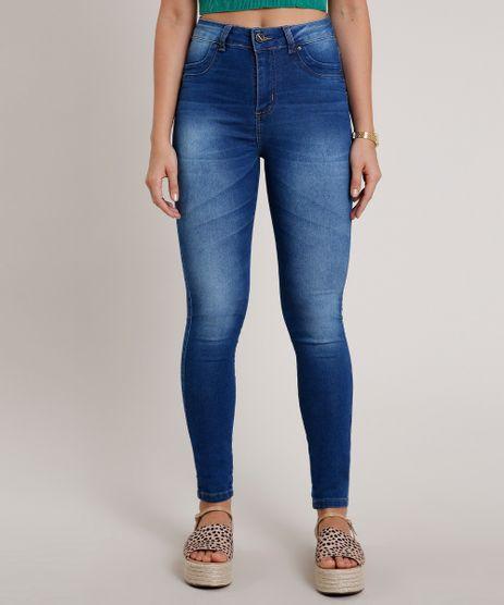 Calca-Jeans-Feminina-Sawary-Skinny-Cigarrete-Cintura-Alta--Azul-Medio-9807190-Azul_Medio_1