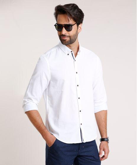 Camisa-Masculina-Comfort-Fit-Manga-Longa-Off-White-9523389-Off_White_1