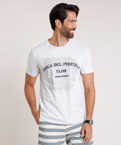 Camiseta-Masculina--Portillo--Manga-Curta-Gola-Careca-Cinza-Mescla-Claro-9832870-Cinza_Mescla_Claro_1