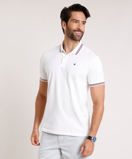 Polo-Masculina-em-Piquet-Comfort-Fit-com-Bordado-Manga-Curta-Off-White-9886073-Off_White_1