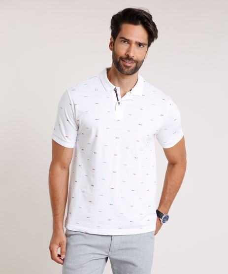 Polo-Masculina-em-Piquet-Comfort-Fit-Estampada-Mini-Print-Manga-Curta-Off-White-9717398-Off_White_1