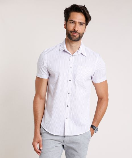 Camisa-Masculina-Comfort-Fit-Listrada-com-Bolso-Manga-Curta-Off-White-9639458-Off_White_1