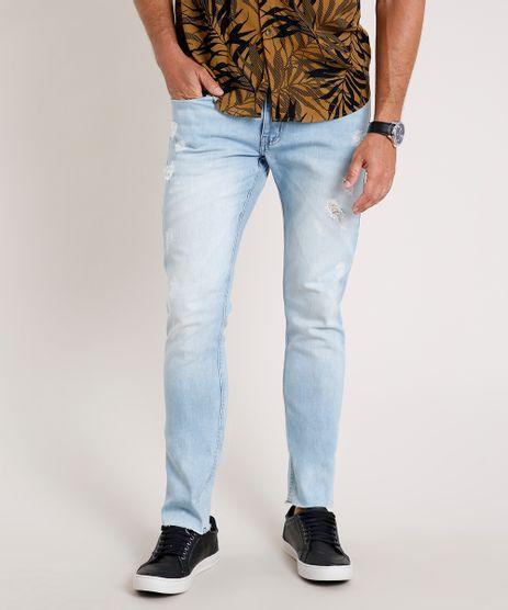 Calca-Jeans-Masculina-Skinny-Destroyed--Azul-Claro-9829295-Azul_Claro_1