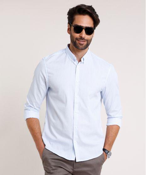 Camisa-Masculina-Comfort-Fit-Estampada-Xadrez-Manga-Longa-Azul-Claro-9645926-Azul_Claro_1