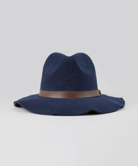 8a97c944f783b c-a. Chapeu-em-Feltro-Azul-Marinho-8474927-Azul Marinho 1