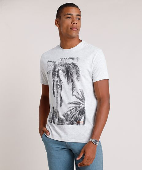 Camiseta-Masculina-Coqueiro-Manga-Curta-Gola-Careca-Cinza-Mescla-Claro-9786143-Cinza_Mescla_Claro_1
