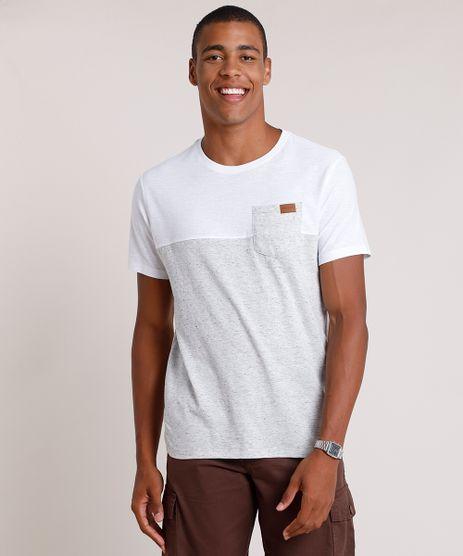 Camiseta-Masculina-com-Recorte-e-Bolso-Manga-Curta-Gola-Careca-Cinza-Mescla-Claro-9769081-Cinza_Mescla_Claro_1