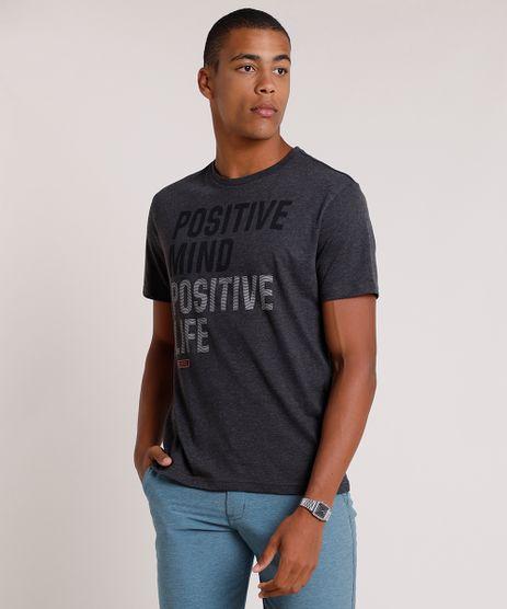 Camiseta-Masculina--Positive-Mind--Manga-Curta-Gola-Careca-Cinza-Mescla-Escuro-9722460-Cinza_Mescla_Escuro_1