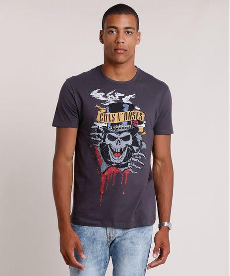 Camiseta-Masculina-de-Banda-Guns-N--Roses-Manga-Curta-Gola-Careca-Chumbo-9841875-Chumbo_1