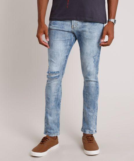 Calca-Jeans-Masculina-Carrot-com-Rasgos-Azul-Claro-9843433-Azul_Claro_1