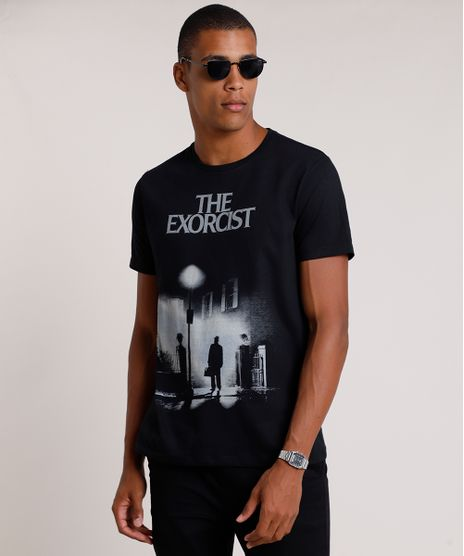 Camiseta-Masculina-O-Exorcista-Manga-Curta-Gola-Careca-Preta-9841874-Preto_1