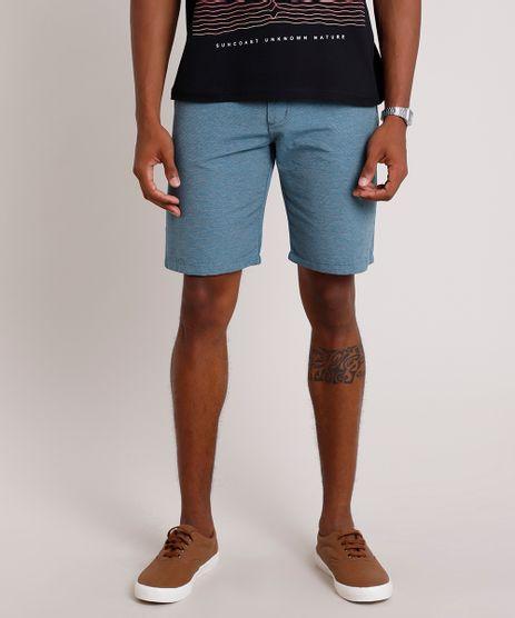 Bermuda-Masculina-Reta-Texturizada-com-Bolsos-Azul-9387759-Azul_1