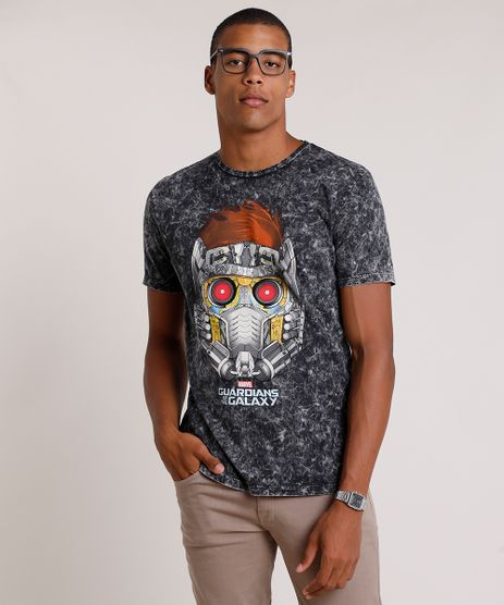 Camiseta-Masculina-Peter-Quill-Guardioes-da-Galaxia-Marmorizada-Manga-Curta-Gola-Careca-Preta-9737514-Preto_1
