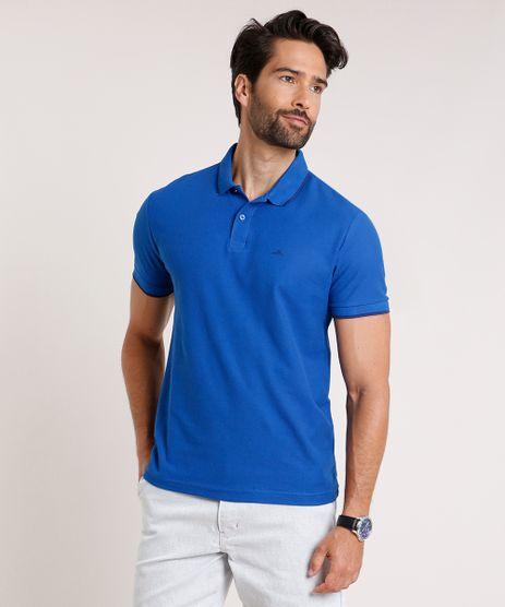 Polo-Masculina-Basica-em-Piquet-Comfort-Fit-com-Bordado-Manga-Curta-Azul-Royal-9842591-Azul_Royal_1