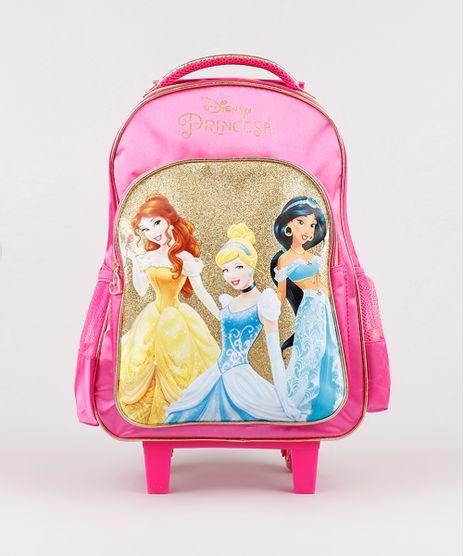 Mochila-Escolar-Infantil-Princesas-com-Rodinhas-Pink-9593242-Pink_1