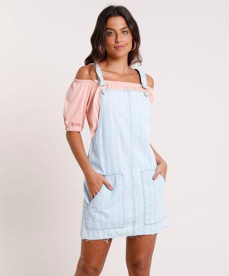 Salopete-Jeans-Feminina-Listrada-com-Bolsos--Azul-Claro-9832539-Azul_Claro_1