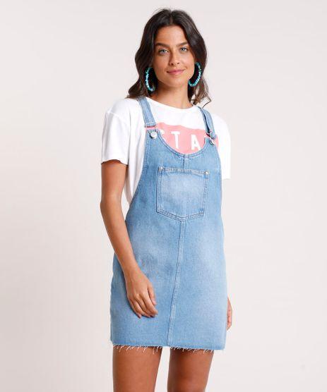 Salopete-Jeans-Feminina-com-Bolsos--Azul-Medio-9832538-Azul_Medio_1