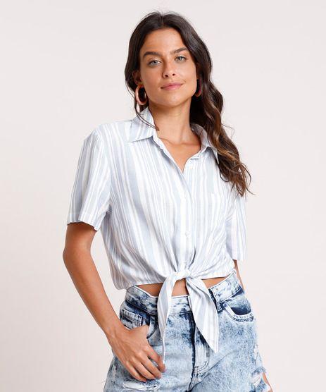 Camisa-Feminina-Cropped-Listrada-com-No-e-Bolso-Manga-Curta-Azul-Claro-9854093-Azul_Claro_1
