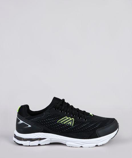 Tenis-Masculino-Esportivo-Ace-Running-com-Recortes-Preto-9902533-Preto_1