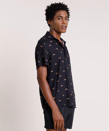 Camisa-Masculina-Pride-Tradicional-Estampada-de-Arco-Iris-Manga-Curta-Preta-9729640-Preto_1