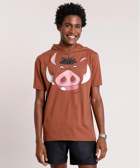 Camiseta-Masculina-Carnaval-Pumba-O-Rei-Leao-com-Capuz-Manga-Curta-Marrom-9824369-Marrom_1